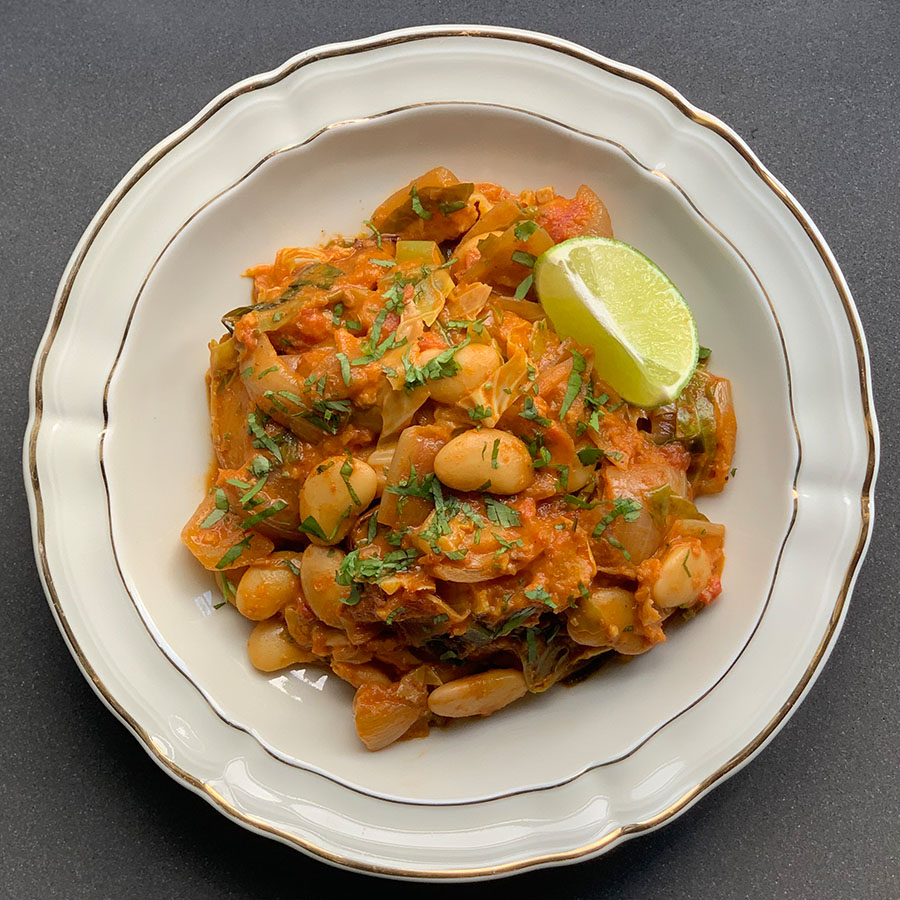 Butternut squash and butterbean curry, Jennifer Medhurst 2