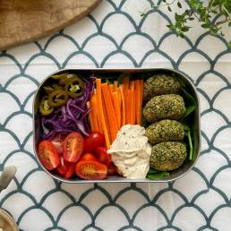 A healthy greens falafel recipe bu nutritionist Jennifer Medhurst